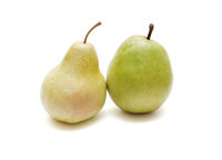 The present ripe pear and pear from plastic