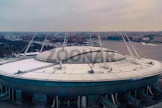 Zenit Arena Gazprom in St. Petersburg.