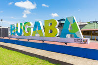 Panama Bugaba town in Chiriqui province, welcome sign