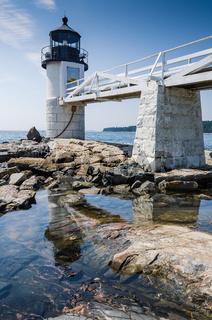 Marshall Point Leuchtturm, Port Clyde, Maine, USA