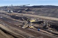 Overburden excavator in opencast lignite mining