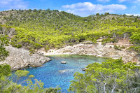 Calo d'en Monjo near Cala Fornells in the west of Mallorca