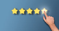 customer giving 5 star rating