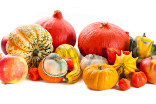 Happy Thanksgiving - pumpkins and apples for Thanksgiving