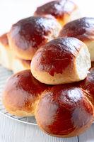 Homemade sweet buns.