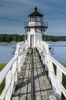 Doubling Point Leuchtturm in Arrowsic, Maine, Neuengland, USA, Nordamerika