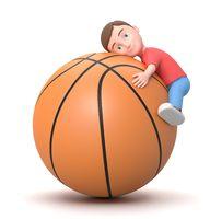 Love Basketball. 3D Cartoon Character Illustration