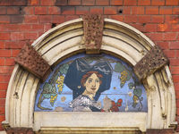 Mural - Woman in french costume