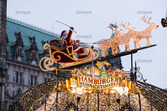 Entrance to Hamburg Christmas Market