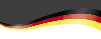 Dark White Header German Flag