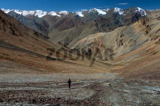 View from Zherin La of the Himalayan Zanskar Range
