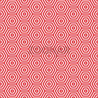 Retro red seventies pattern