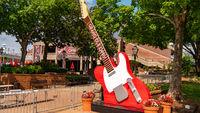 Huge guitars at Grand Ole Opry - NASHVILLE, USA - JUNE 15, 2019