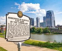 Cumberland Park information table in Nashville - NASHVILLE, USA - JUNE 15, 2019