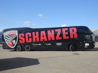 Team bus with club logo FC Ingolstadt 04 DFB 3rd league season 2020-21