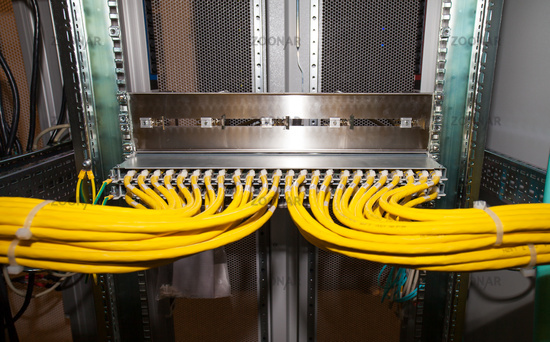 IT data center copper patch panel