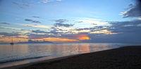 sea at sunset. Polynesia. Tahiti