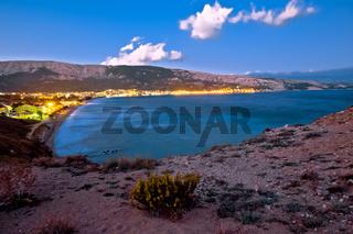 Bay of Baska evening view