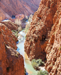 Canyon in Morocco