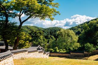 Namhansanseong Haenggung and mountain in Gwangju, Korea