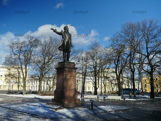 monument great Russian poet Alexander Pushkin