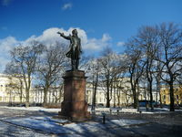 monument great Russian poet Alexander Pushkin