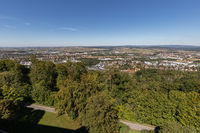 Scenic view on the city of Coburg from Veste Coburg
