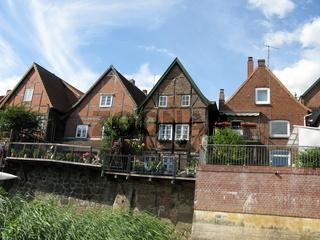 Lauenburg, Häuser am Elbufer