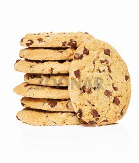 stapel cookies und ein stehender cookie