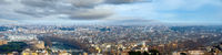 Rome city top panorama, Italy. All people are unrecognizable.