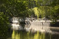Landwehr Canal lower lock with viaduct, Tiergarten, Mitte, Berlin, Germany, Europe