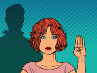 Signal For Help. International gesture of help for women at risk of domestic violence