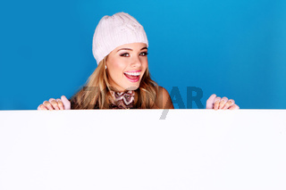 Blonde teenager smiling