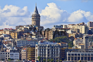 Turkey Istanbul Skyline From The Bosphorus