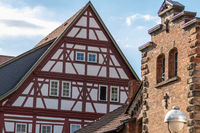 Facades of historic buildings in the city Wasungen