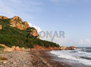 Der Strand La Spiaggetta an der Westküste von Sardinien bei Cardedu