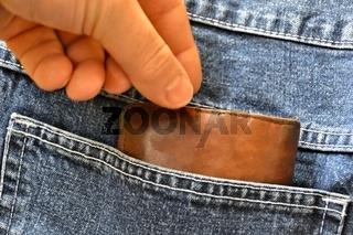 Diebstahl einer Brieftasche