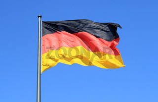 Germany flag in the wind