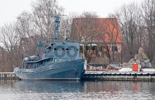 Old minesweeper in Baltiysk