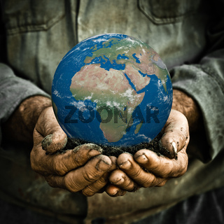 Earth in hand