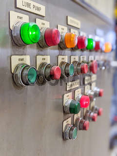control panel at heacy industrial plant