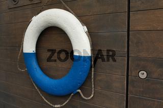lifebuoy on board a ship