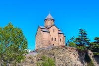 Virgin Mary Metekhi church in Tbilisi, Georgia