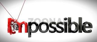 Business concept. Impossible concept
