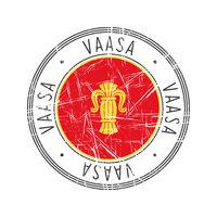 Vaasa city postal rubber stamp