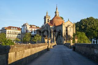 Amarante view with Ponte Sao Goncalo bridge, in Portugal