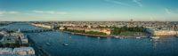 Panorama of city center of St. Petersburg