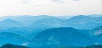 Blue mist mountains landscape