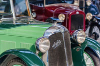 BRUSSELS, BELGIUM - MAY 01, 2017: Vintage car in Autoworld museum on May 01, 2017 in Brussels Belgium