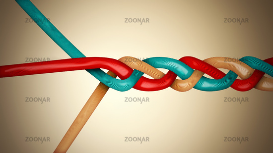 Conceptual teamwork abstract background